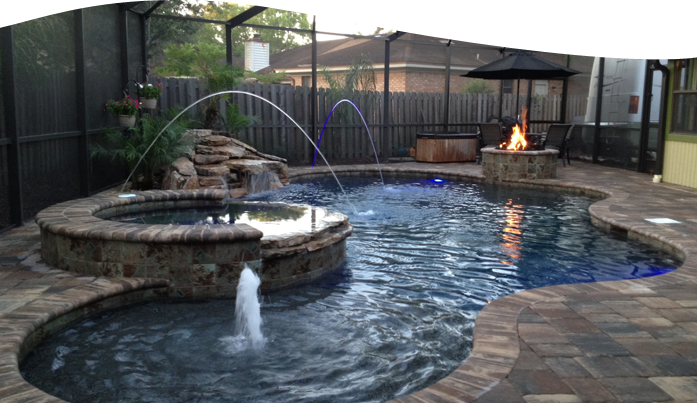 Swimming pools custom pool jacksonville fl for Pool designs florida
